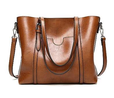fa28acc827211 MYTNN Damentasche Shopper Umhängetasche Tragetasche Schultertasche Damen  Tasche XXL (Braun)