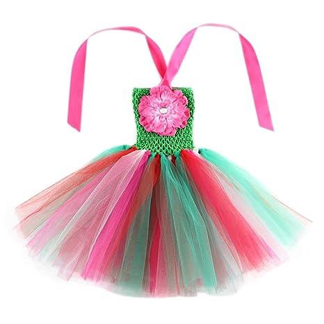 EOZY-Vestito Estivo Danza Bambina Tutu Arcobaleno Abito Bimba Colore 1  Taglia M 6c96d18b164