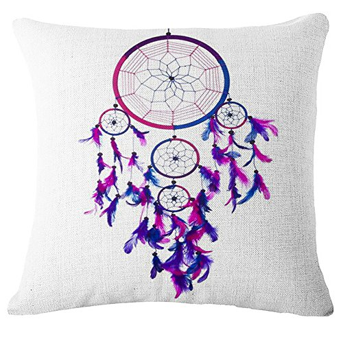 Littay Pillowcase 17inch x 17inch,Dream Square Printing Pillow Case Cafe Home Decor Cushion Covers -