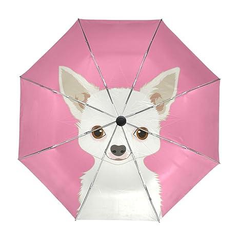 ALAZA Viaje del perro Chihuahua paraguas de apertura automática Cerca de Protección UV a prueba de