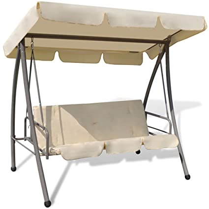 Amazon Com Vidaxl Patio Outdoor Swing Canopy Hammock Seat Bed Sand