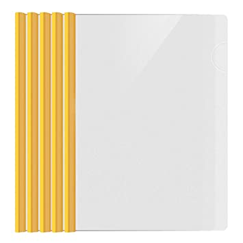 shxstore resume portfolio folder clear presentation folders with yellow report covers sliding bar for a4
