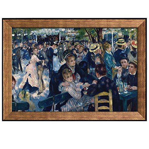 Bal Du Moulin de la Galette by Pierre Auguste Renoir Framed Art