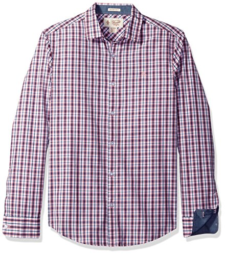 Original Penguin Men's Long Sleeve Check Shirt, Pink Icing, (Original Penguin Check)