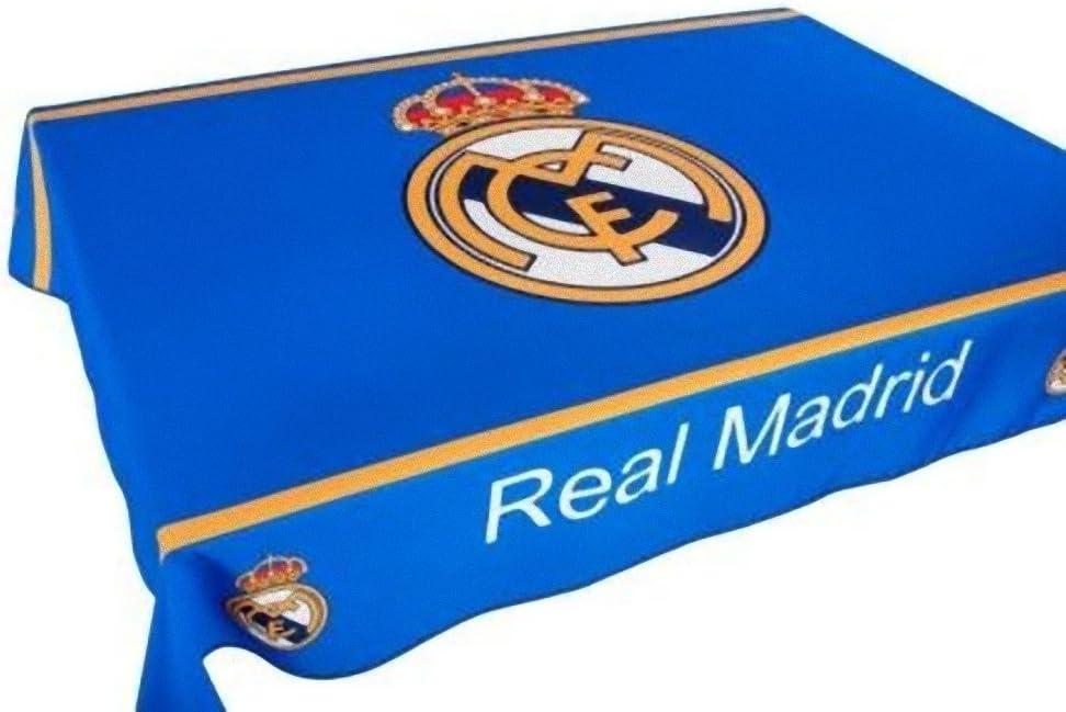 Real Madrid mantel antimanchas - Producto oficial - 100 cms X 140 cms (2/4 personas): Amazon.es: Hogar