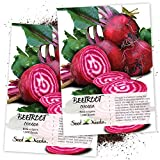 Seed Needs, Chioggia Beets (Beta vulgaris) Twin Pack of 1,000 Seeds Each Non-GMO