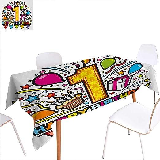 Cálida Familia 1er cumpleaños Cena, decoración de Mesa de ...