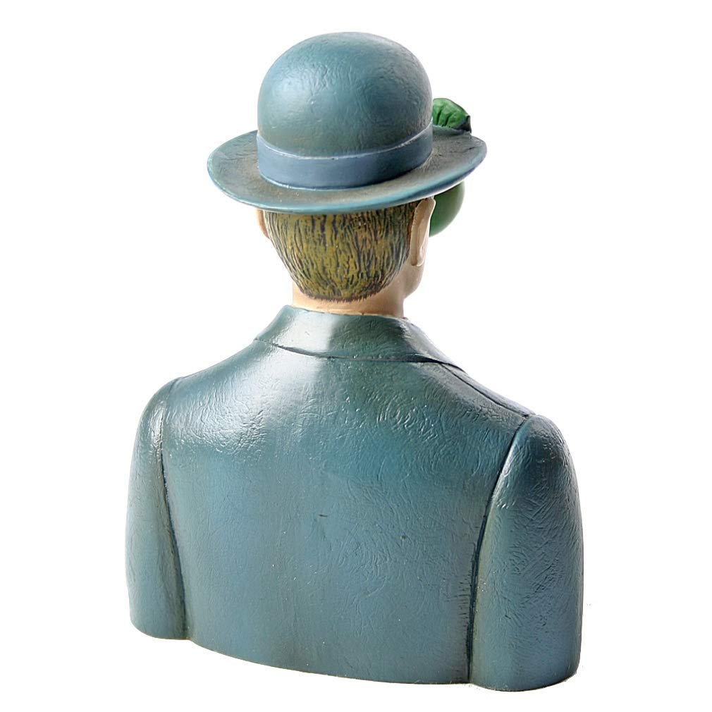 Amazon.com  Bowler Hat Man with Green Apple Son of Man figurine.  Home    Kitchen 60b9ee197cc1