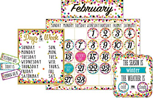 Confetti Calendar Bulletin Board -