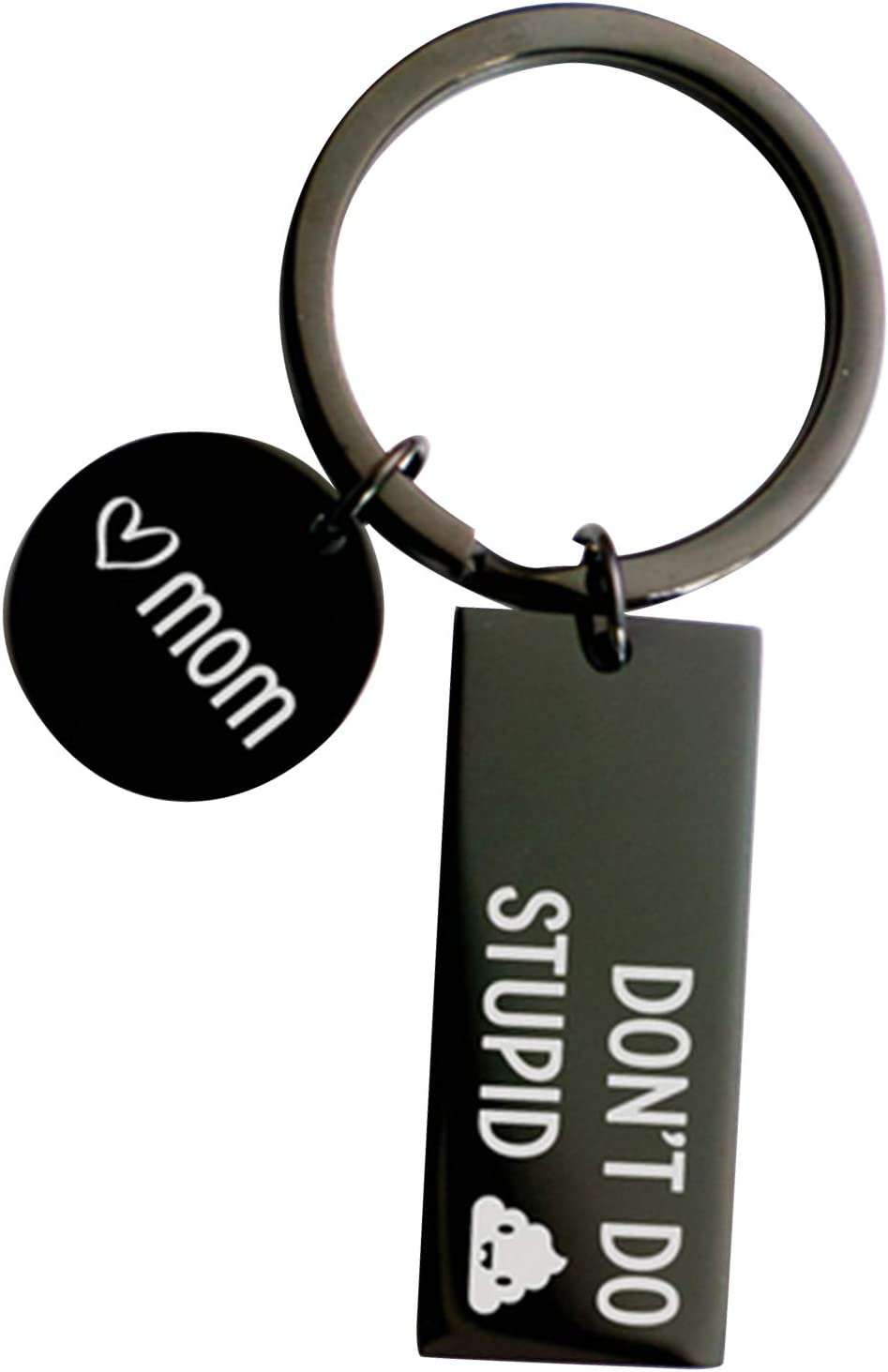 Funny Sarcasm Gift for Family Friends,Son /& Daughter Gift Christmas Birthday Black 2020 Shit Keychain Dont Do Stupid Poop Love Mom
