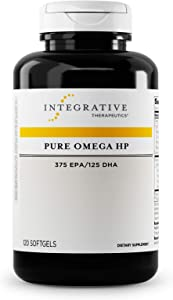 Integrative Therapeutics - Pure Omega HP Fish Oil Softgels - 2300 mg Omega 3 Fatty Acids with EPA and DHA - Wild Fish Oil - No Fishy Burp Back -Sustainably Sourced - 120 Softgels