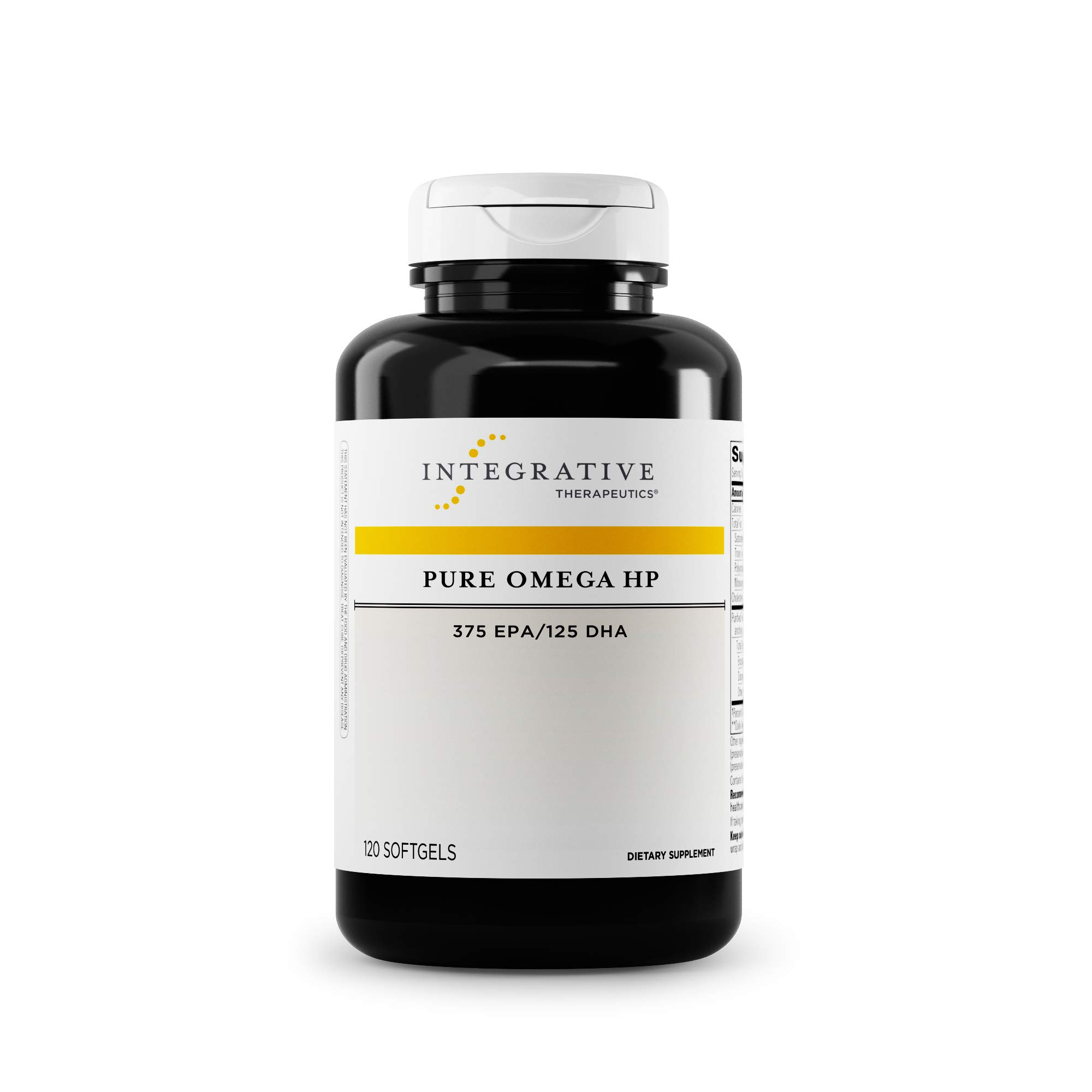 Integrative Therapeutics - Pure Omega HP Fish Oil Softgels - 2300 mg Omega 3 Fatty Acids with EPA and DHA - Wild Fish Oil - No Fishy Burp Back -Sustainably Sourced - 120 Count