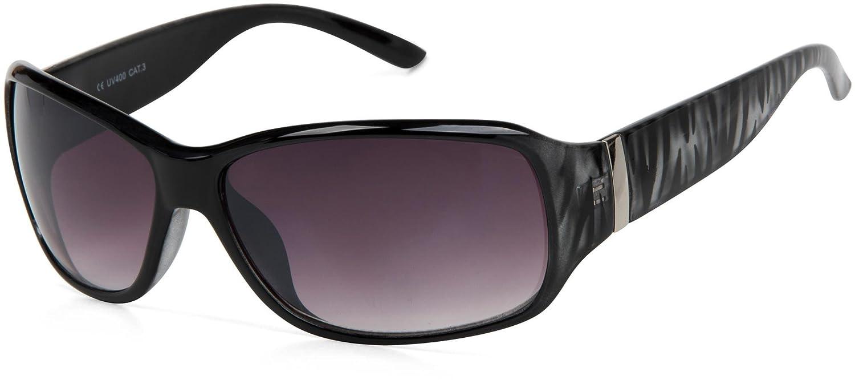 Sonnenbrille in Schmetterlingsform, Bügel Metallverzierung, Verlaufsglas, Damen