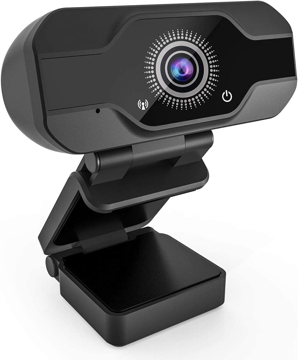 HD Webcam with Microphone, Homga 8MP Fixed Focus 4K/1080P Full HD Webcam-Plug & Play USB Webcam for PC/Mac Laptop/Desktop Streaming, Video Calling, Recording, Conferencing, Gaming,Skype (HD Webcam-01)