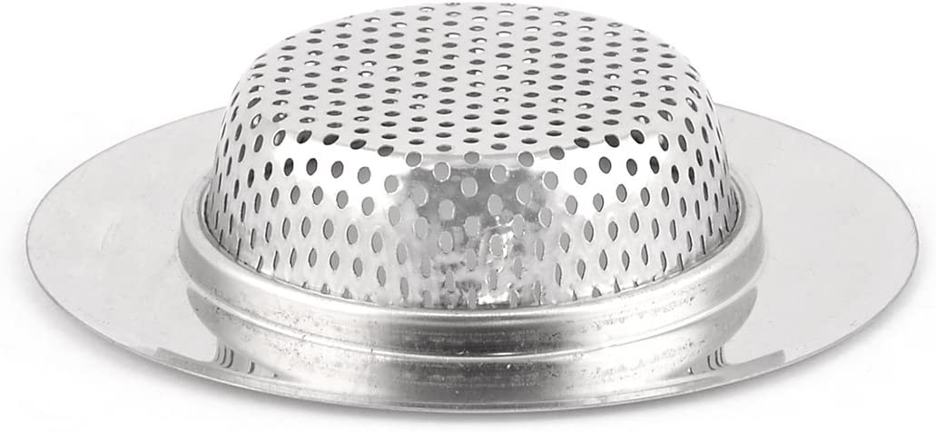 uxcell Stainless Steel Hotel Kitchen Round Shaped Sink Basin Rubbish Strainer Stopper