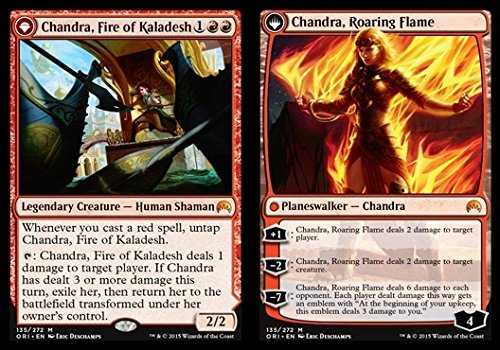 Magic: the Gathering - Chandra, Fire of Kaladesh // Chandra, Roaring Flame (135/272) - Origins