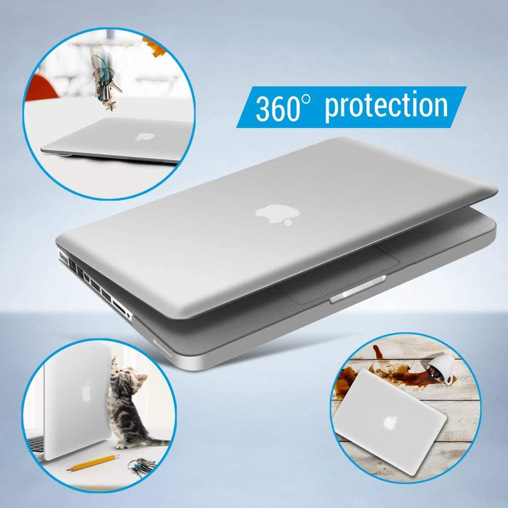 Plastic Hard Shell Case with Keyboard Cover for Apple Old Version Mac Pro 13 with CD-ROM IBENZER MacBook Pro 13 Inch case A1278 Release 2012-2008 CA-P13SRL Serenity Blue