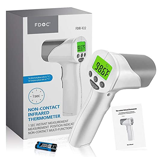 AmazonSmile : FDoc Touchless Forehead Thermometer for Adults, Baby Thermometer, Infrared Temporal IR Laser Gun to Measure Temperature or Fever in Indoor and Outdoor Environments, Instant Results, Feature Extensive : Baby