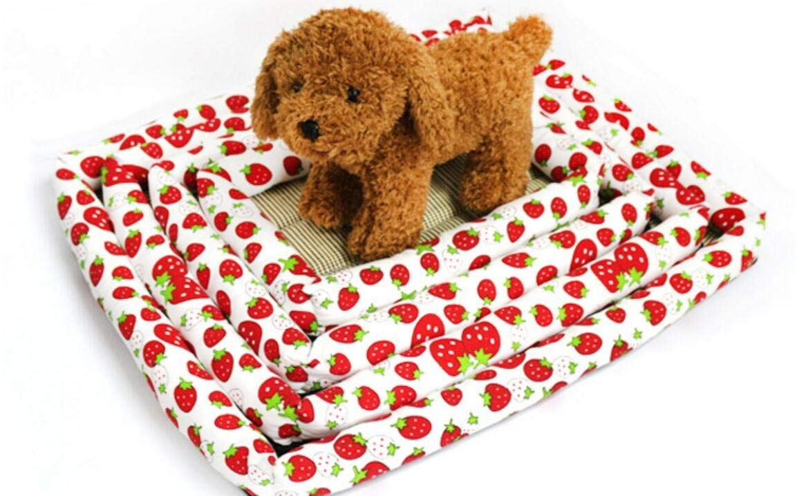 FERZA petsuppliesmisc Pet Bed Summer Ice Sleeping Mat Bamboo Bed Keeping Pets Cool Summer Sleeping Mat for Dog Cat Puppies Pet Bed Blanket Pet Cooling Mat,Cooling Kennel Cage Cooling (M)