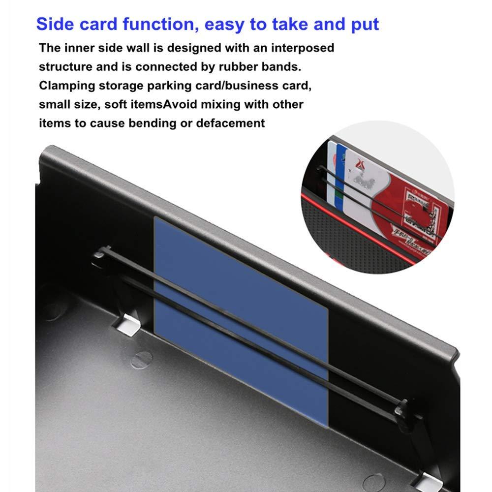 muchkey Car Center Console Armrest Storage Box Glove Box Secondary Storage Tray Box Compatible for Eclipse Cross ABS Silicone Non-slip Bottom Car Accessory