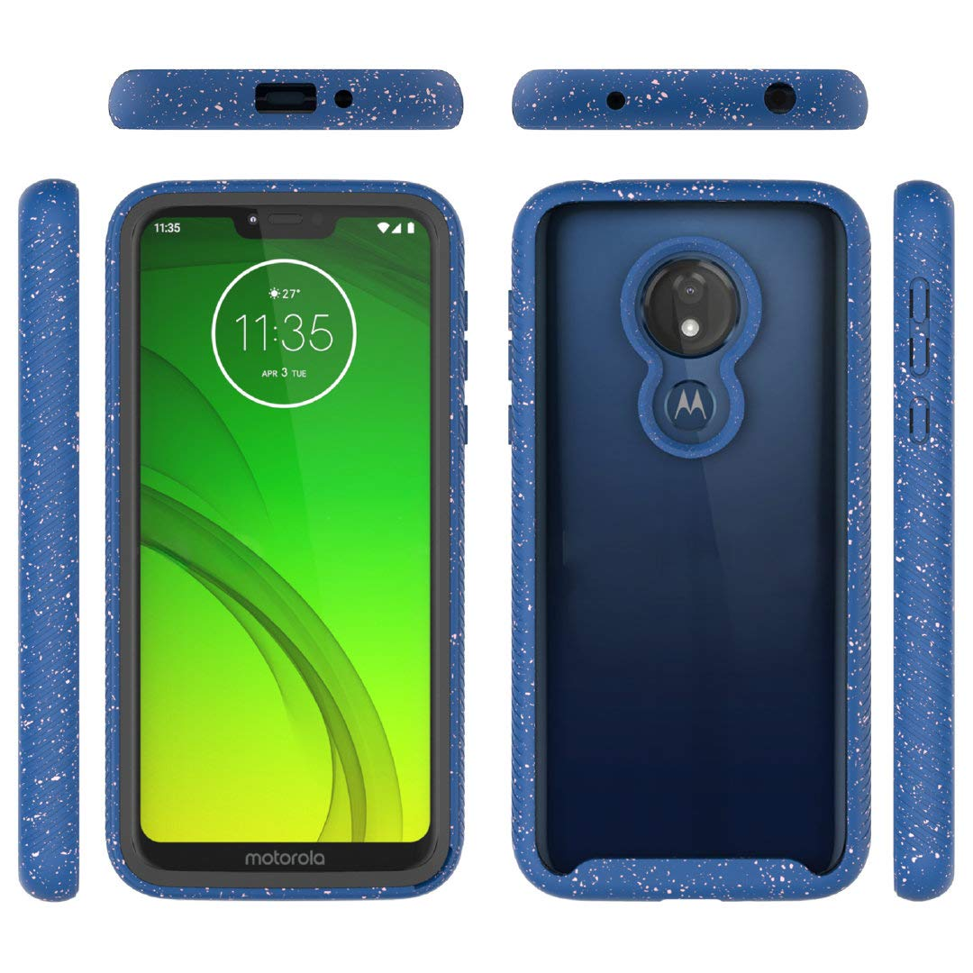 Jeylly Full-Body Rugged Clear Hybrid Bumper Case DO NOT FIT Moto G7 Or Moto G7 Play Moto G7 Supra Case Moto G7 Power Case Moto G7 Optimo Maxx Case Purple Built-in-Screen Protector Shock Proof