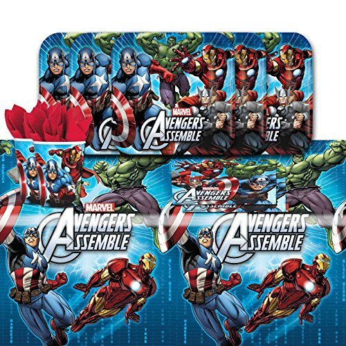Marvel Avengers Superhero Children's Birthday Complete Party Tableware Pack for 16 by Balloons and Party by Balloons and Party