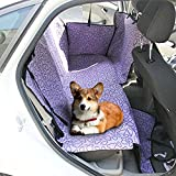 HAOCOO Pet Seat Cover Waterproof and Washable for Cars, SUV, Vans & Trucks (Purple)