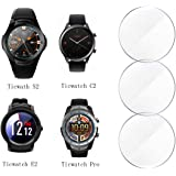 Ticwatch Pro/E2/S2/C2 Screen Protector,Smooth Glass Touch,9H Harder,High Transparency,Anti-Scratch,No Bubble,Rounded Edges,[3-Pack] Soarking