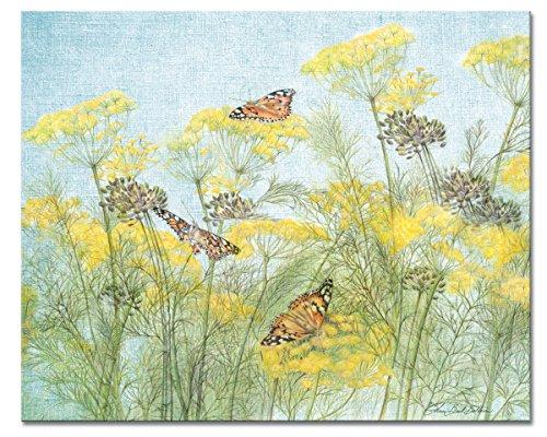 CounterArt Butterflies Yellow Glass Cutting