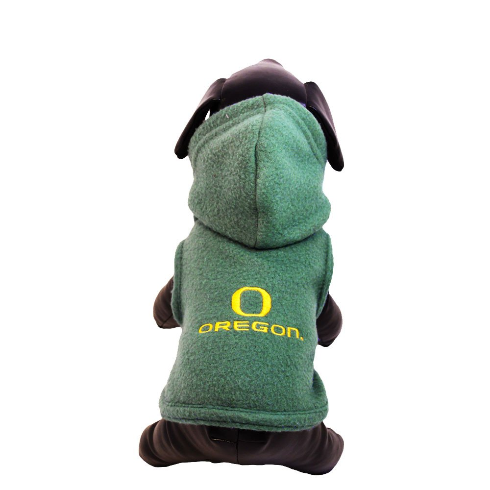 NCAA Oregon Ducks Polar Fleece Hooded Dog Jacket, Small by All Star Dogs
