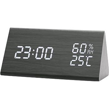 NEXGADGET Reloj Despertador Electrónico Digital Espejo LED Dual USB ... 19dbbfe3b976