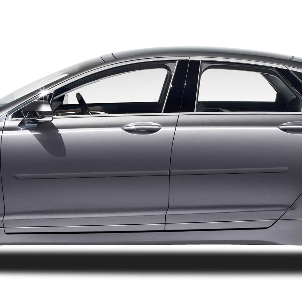 Dawn Enterprises FE-FUS13 Finished End Body Side Molding Compatible with Ford Fusion J7 Lincoln MKZ Magnetic