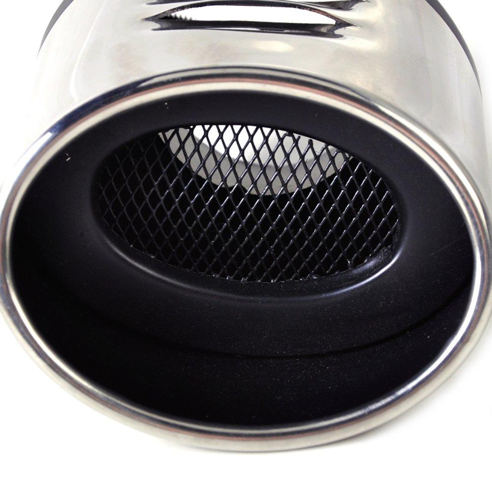 PolarLander Tubo de Escape de Escape 1pc Tubo de Cola Silenciador Trasero Acero Inoxidable End Trim