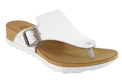 Maca Kitzbühel Zehentrennersandale, Antikleder white, 2229 (38 EU)