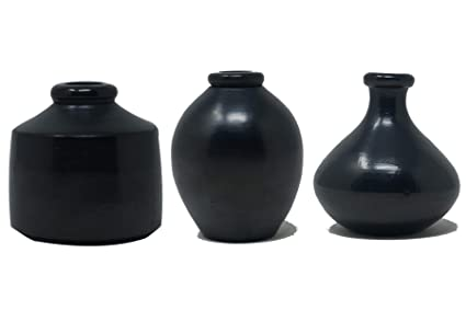 Buy Handmadeobal Authentic Black Pottery Miniature Flower Vase 3