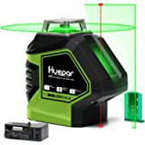 Huepar Self-Leveling Green Laser Level Cross Line with 2 Plumb Dots Laser Tool -360-Degree Horizontal Line Plus Large…