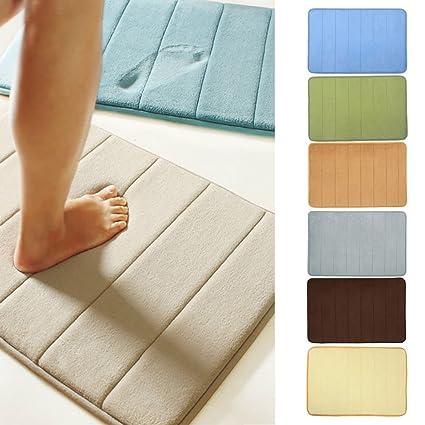 Microfibre Memory Foam Bathroom Shower with Non Slip Back Bath Mat DP Home, Furniture & DIY Bath Mats