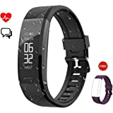 Fitness Tracker,Leelbox Smart Watch Band Activity Tracker Bracelet Waterproof Bluetooth Smartwatch Wristband with Heart Rate Monitor Pedometer Sleep Monitor Step Calorie Counter for iPhone and Android Smart Phones