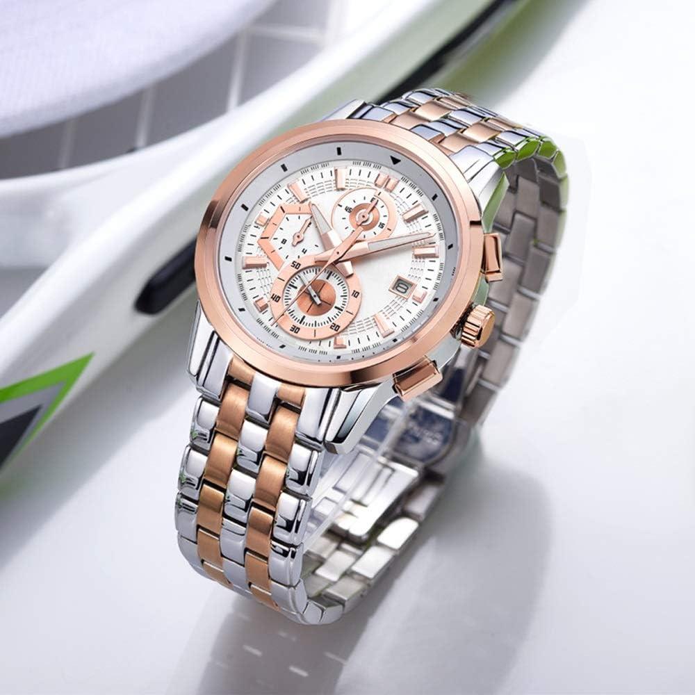 Orologi Orologio Watch Quartz 30M Life Calendar impermeabile Timer luminoso Mens Business Pendolarismo leggero Accessori 02white-gratuito