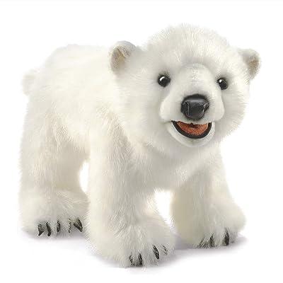 Folkmanis Polar Bear Cub Hand Puppet, White, Model:3041: Toys & Games