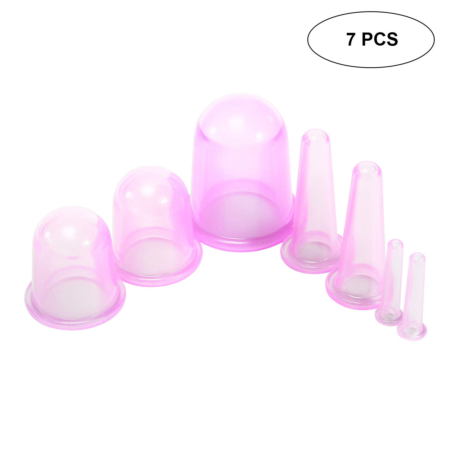 Cupping Therapy Set,AOLVO Silicone Massage Suction Anti Cellulite Cup For Body And Facial Massager Natural Pain Relief,Set Of 7