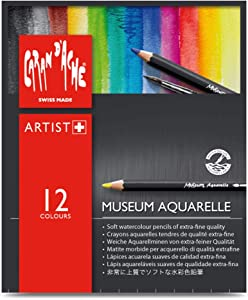 Caran D'ache Museum Aquarelle Pencil Sets Museum Intro set of 12 colours (3510.312)