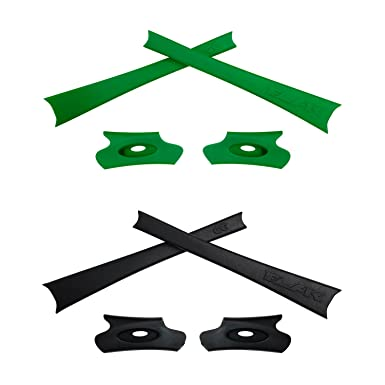 HKUCO Blue/Green Replacement Rubber Kit For Oakley Flak Jacket/Flak Jacket XLJ Sunglass Earsocks