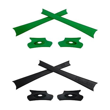 HKUCO Green/Orange Replacement Rubber Kit For Oakley Flak Jacket/Flak Jacket XLJ Sunglass Earsocks a1Asz2