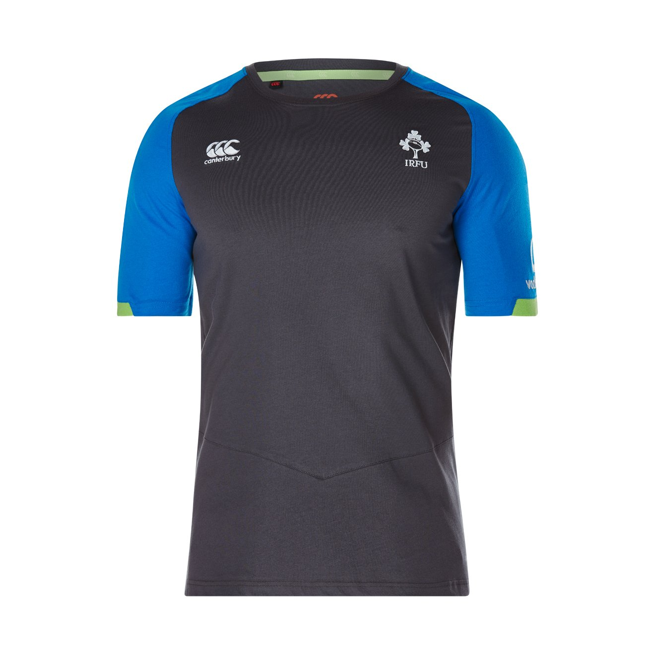 2017-2018 Ireland Rugby Cotton Training Tee (Asphalt) B073VRYS31Grey XL 46\