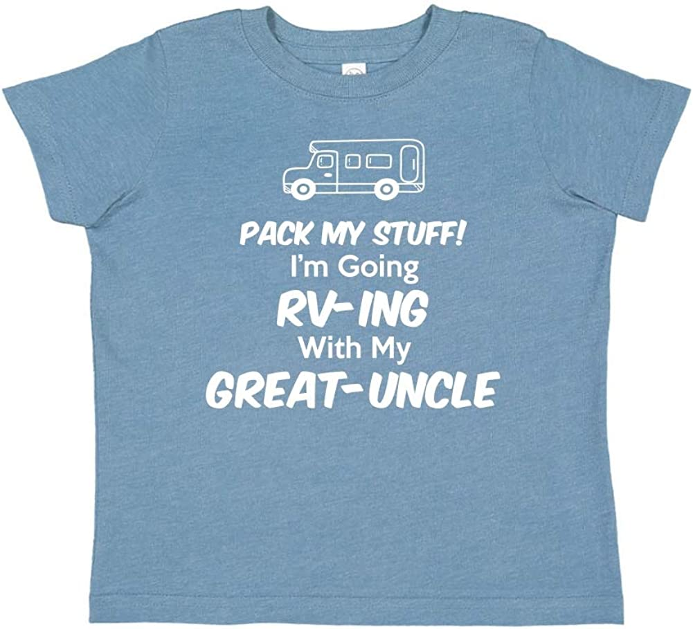 Toddler//Kids Short Sleeve T-Shirt Pack My Stuff Im Going RV-ing with My Great-Uncle