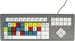 Ablenet BigKeys LX, Multi-Color QWERTY keyboard, Large Letters compatible with PC and MAC - Product Number: 12000009