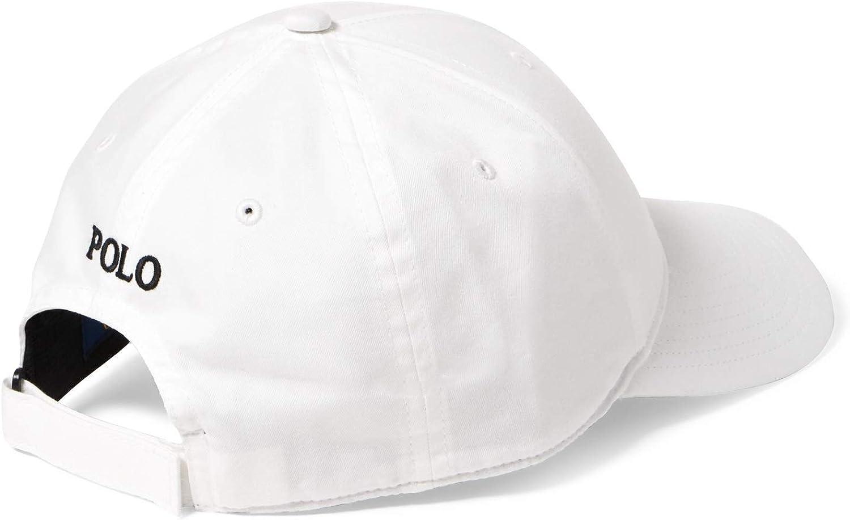 Polo Ralph Lauren Men`s Baseball Cap (White, /Black, One Size ...