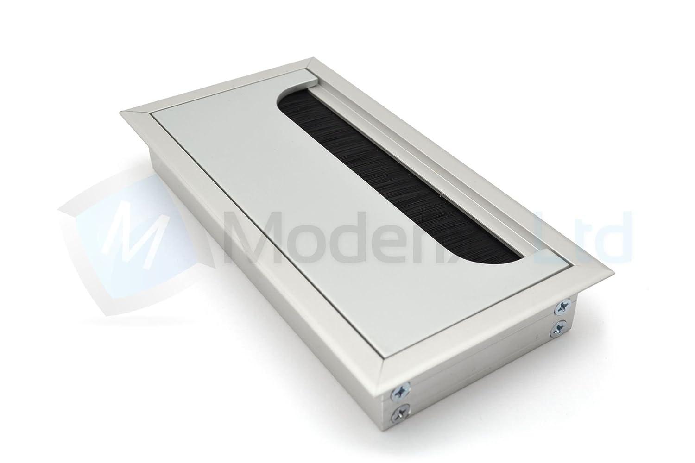 Passe cable passe fil M/étal aluminium design 160 x 80 mm