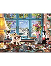 Buffalo Games 17084-Cats Collection-Puzzler's Desk-750 Piece Jigsaw Puzzle